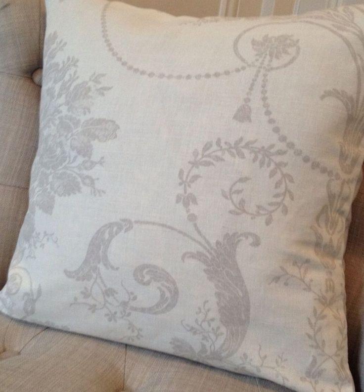 16x16 Cushion Cover In Laura Ashley Josette Dove Grey