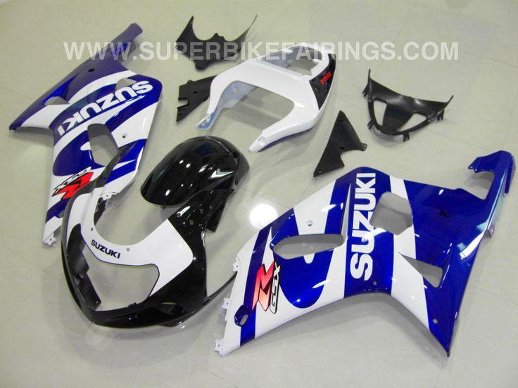 2001-2003 GSXR-600 750 Blue & White Suzuki Fairings