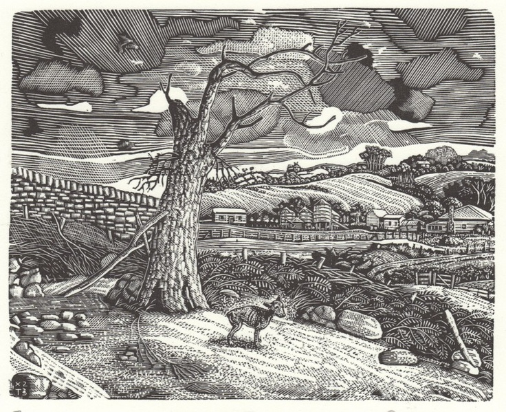 Lost XIII, 2008  Artist: David Frazer  Medium: Wood engraving  Dimensions: 12 x 15 cm  Edition: 40