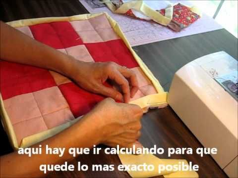 tutorial como terminar el borde de un quilt o colcha - YouTube