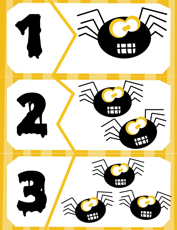 Spider Count Puzzles - Activities For Toddlers With Autism