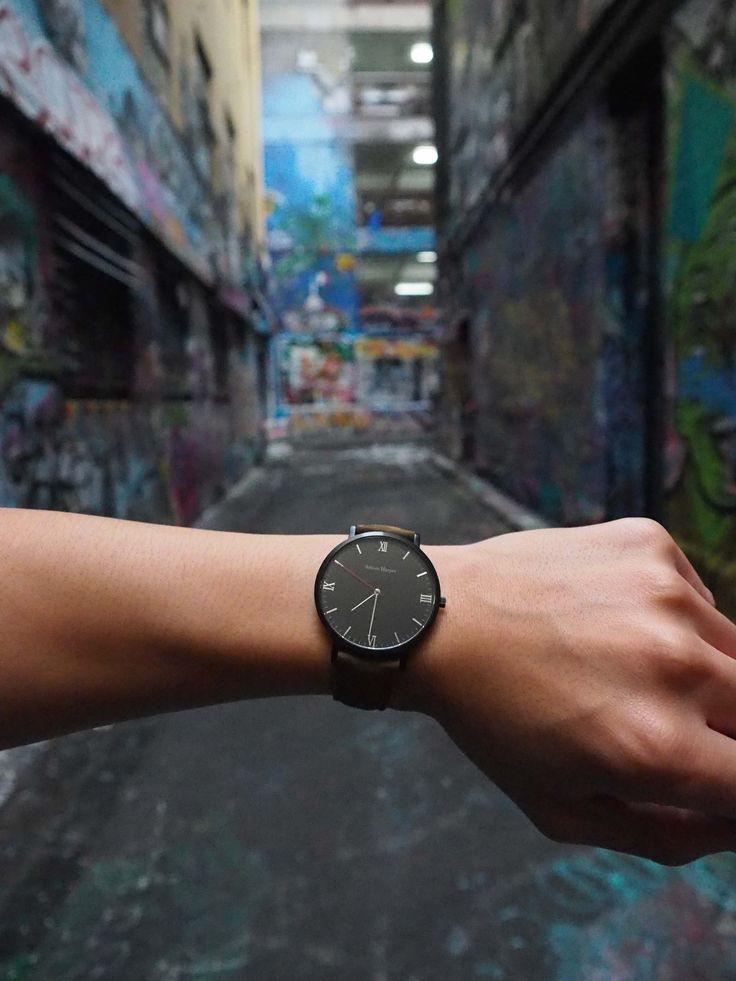 Melbourne Street Art Hosier Lane Adrien Harper Black watch