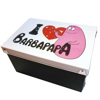 Kunststof opbergdoos - I love Barbapapa #Barbapapa #opbergdoos #doos #love