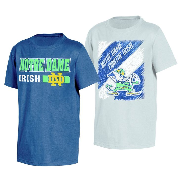 NCAA Notre Dame Fighting Irish Boys' Toddler 2pk T-Shirts - 2T, Multicolored