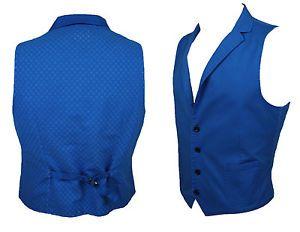 a chaleco sin mangas hombre diamante luz azul algodon casual chaleco made in italy