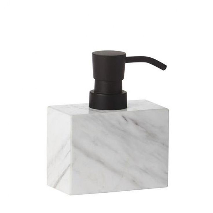 designstuff offers a range of Scandinavian bathroom accessories including this stylish soap dispenser in marble by Mette Ditmer.
