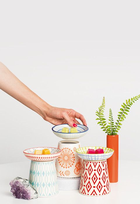 Colorful, Decorative Mix & Match Scent Warmers   Scentsy    Mix and Match Warmers  Six colorful pieces to mix and match as you please! Pick your favorite Warmer, add an extra dish (or two) and change up the look whenever the mood strikes.