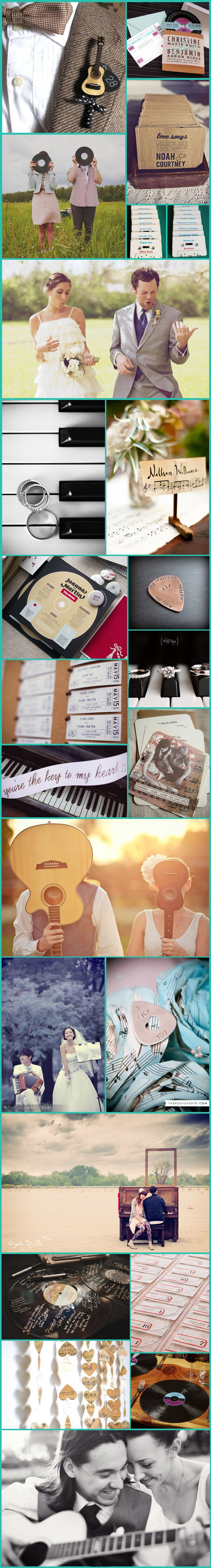 Wednesday Wedding Inspiration: Music Lovers