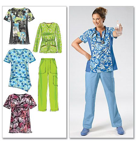 Misses'/Women's Tops and Pants McCalls ... Block through for line drawings