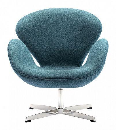 Кресло Swan Chair Сине-зеленая Шерсть