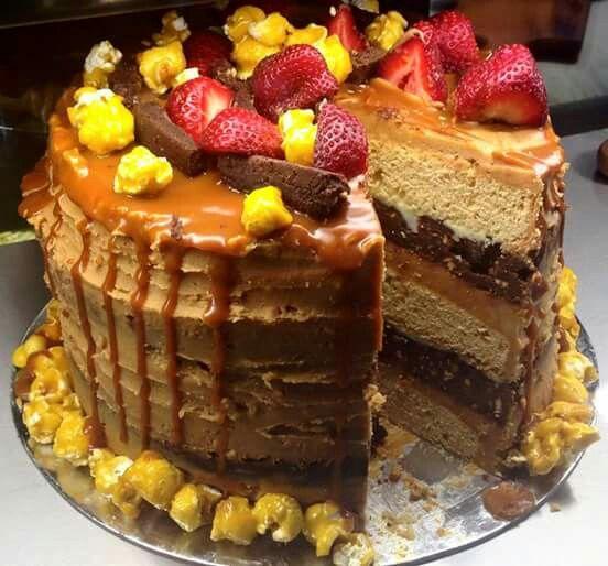 Patissez---Peanut butter,choc caramel & vanilla fudge cake