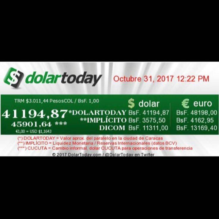 #Repost @Regranned from @dolartoday -  Así se cotiza el #dolarparalelo el día de hoy  31 de Octubre  a esta hora.     DolarToday se limita a publicar el valor del dólar paralelo en Venezuela y se basa en las operaciones cambiarias realizadas en las mesas de dinero de Caracas y el mercado de Cúcuta (tasa de transferencia) los cuales están regidos por el libre mercado es decir oferta y demanda.  La enorme fluctuación del precio del dólar paralelo es generada por los controles cambiarios la…