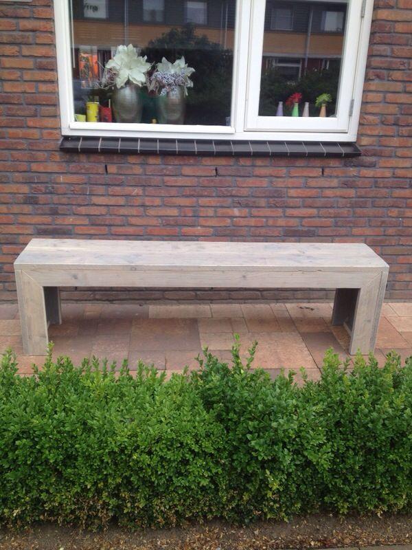 Steigerhouten bank   www.trendyhout.nl