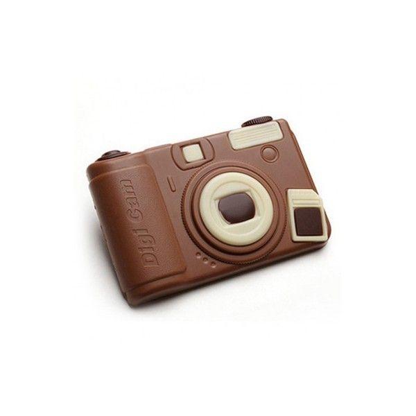 Appareil Photo en chocolat au lait : le cadeau photo chocolat pour gourmand !