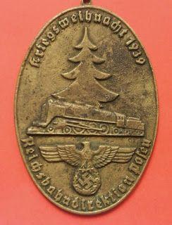 1939 DEUTSCHE REICHSBAHN GERMAN NATIONAL RAILWAY NAZI GERMAN WAR CHRISTMAS PLAQUE GERMAN WW2 PRICE $199