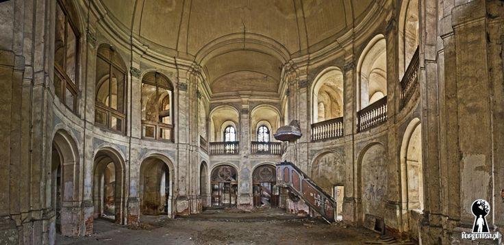 Reichenbachow von Palace / Manor Evangelical Church, Goszcz, Lower Silesia, Poland.