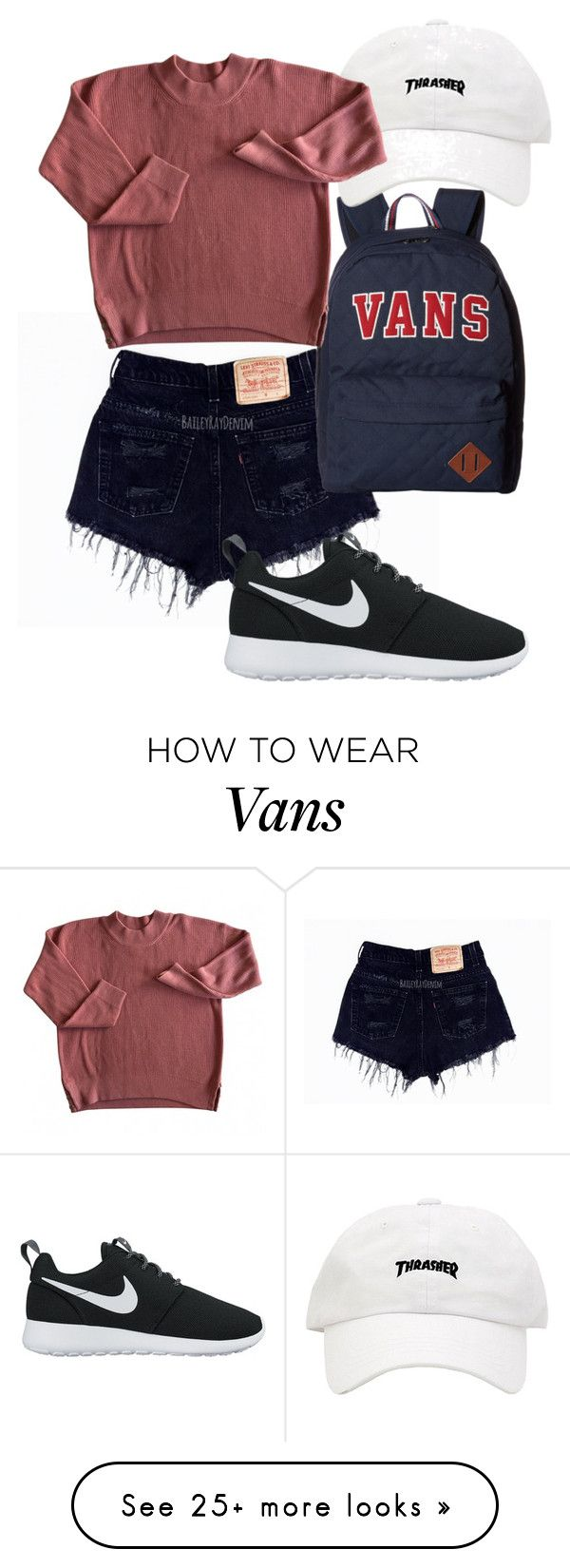 """Untitled #229"" by daylightshimmer on Polyvore featuring Vans and NIKE"