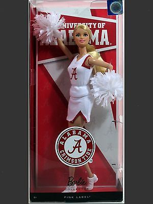BARBIE 2011 University Alabama Crimson Tide Cheerleader Doll Toy Mattel Collect • CAD 44.92 - PicClick CA