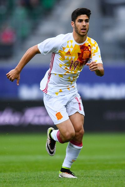 Marco Asensio of Spain in action during an international friendly match between Spain and Bosnia at the AFG Arena on May 29, 2016 in St Gallen, Switzerland.
