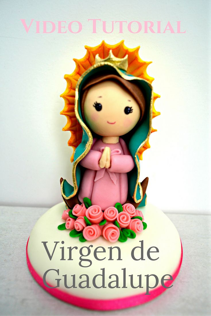 Modelado paso a paso de la Virgen de Guadalupe en fondant