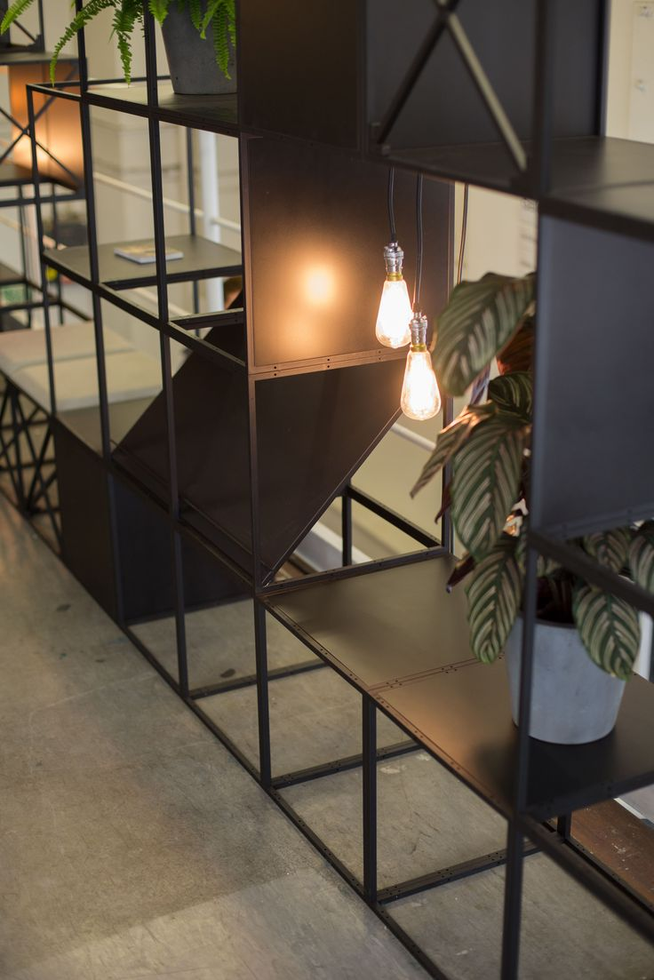 GRID with Lights, magazine shelves at Designjunction 2015