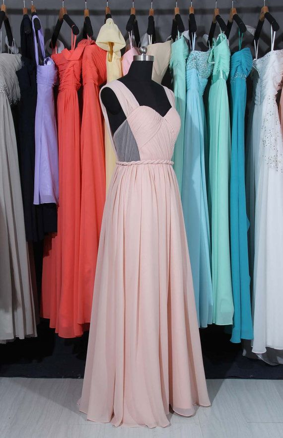 Pearl Pink  Bridesmaid Dress Chiffon Tulle par harsuccthing sur Etsy