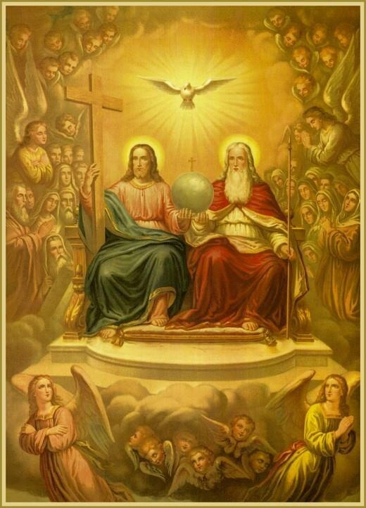 The Holy Trinity- the Christian belief that God is three separate persons within one- Father, Son and Holy Spirit