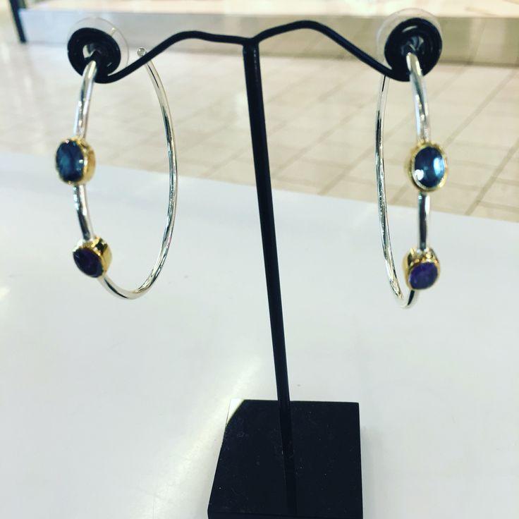 Hoop earrings  handmade by ziporacollection