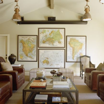 Media Room Wall Decor 46 best decorating with maps images on pinterest | vintage maps