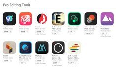 Pro Editing Tools - cele mai bune aplicatii pentru editare foto-video recomandate de Apple | iDevice.ro