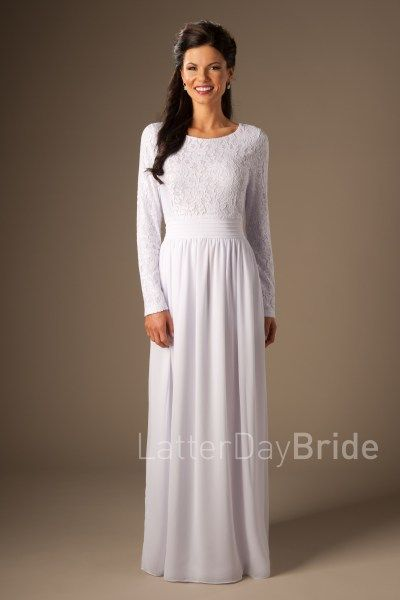 Hartford | LDS Temple Dress | Modest | LatterDayBride | SLC | UT | Salt Lake City | Utah | Worldwide Shipping |
