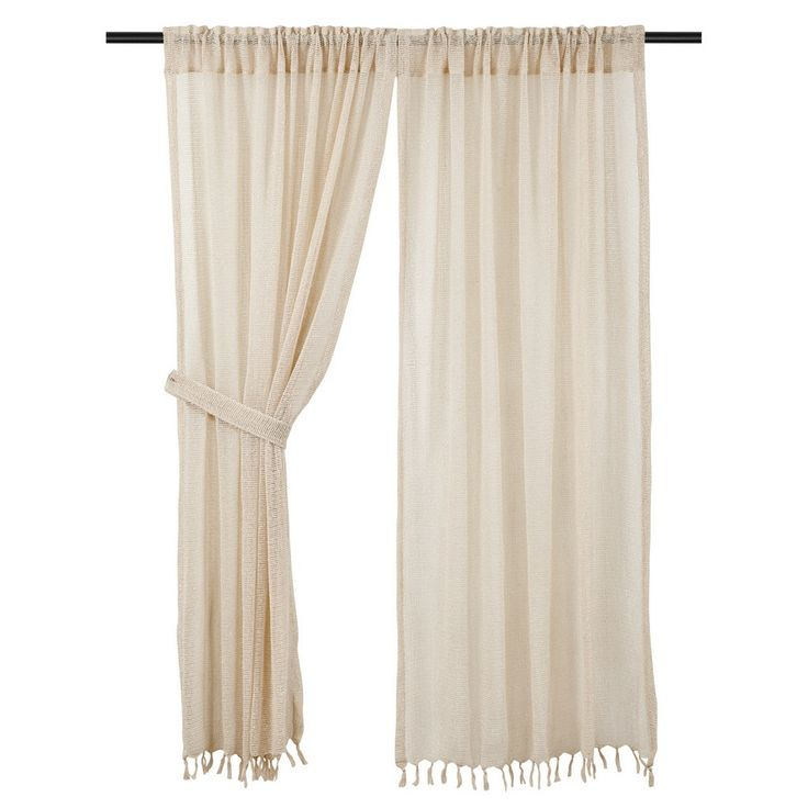 These Natural Boucle Short Panel curtains are a neutral tone so they will compliment a variety of decorating colors and styles. Shop for them at the Quilt Shop.