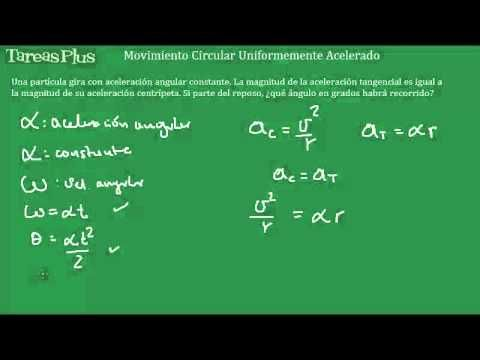 Movimiento circular acelerado aceleración centrípeta igual a aceleración tangencial