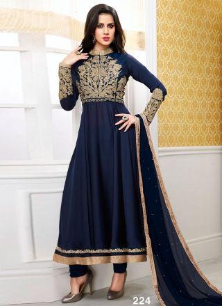 Dazzling Blue Designer Anarkali Suit#Anarkali  http://www.angelnx.com/Salwar-Kameez/Anarkali-Suits