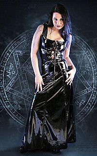 Gloss Eyelet Long Dress Lack-Kleid