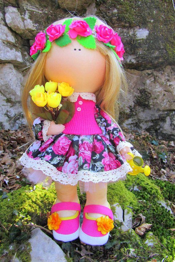 CLOTH DOLL handmade doll fabric doll Emily от NICEDOLLSANDRABBITS