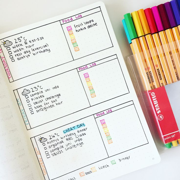 "you-look-so-cooll: "" Some of my favourite spreads from my bullet journal  IG: breeeberry """