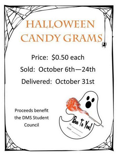 deshler middle school highlights halloween candy grams on sale the student council will - Halloween Fundraiser Ideas