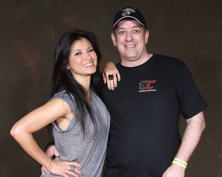 Kelly Hu from the X-Men and Scorpion King...said she was just drawn to the shirt.  Available at www.carrollconcealed.com