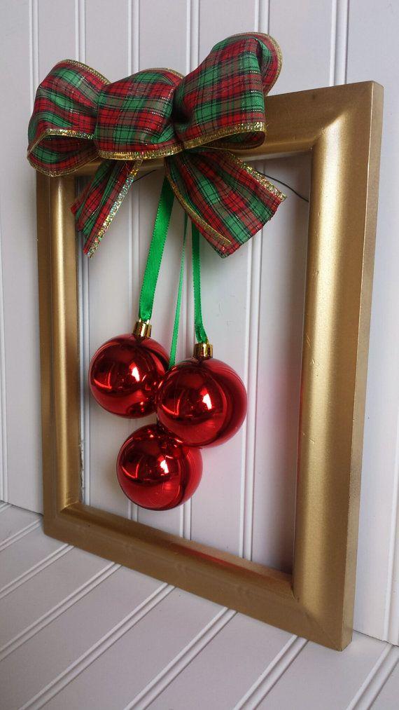 VENTA  corona de marco de foto de Navidad