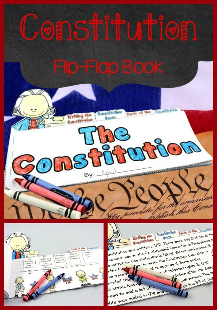 This flip–flap book is all about the Constitution. It covers the Constitutional Congress, the development of the Constitutional, the parts of the Constitution, and Constitution Day. $