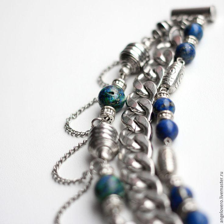 Купить Широкий браслет Принц Персии - Браслет ручной работы, браслет из камней, бусины, Бижутерия
