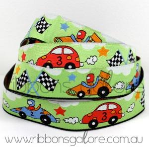 racing cars on green ribbon  #green #ribbon #ribbonsgalore