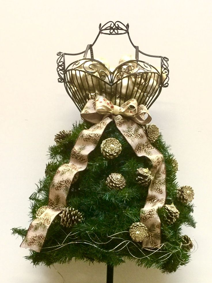 Click on the photo to purchase the tutorial for $10 that explains how to create this Dress Form Christmas tree