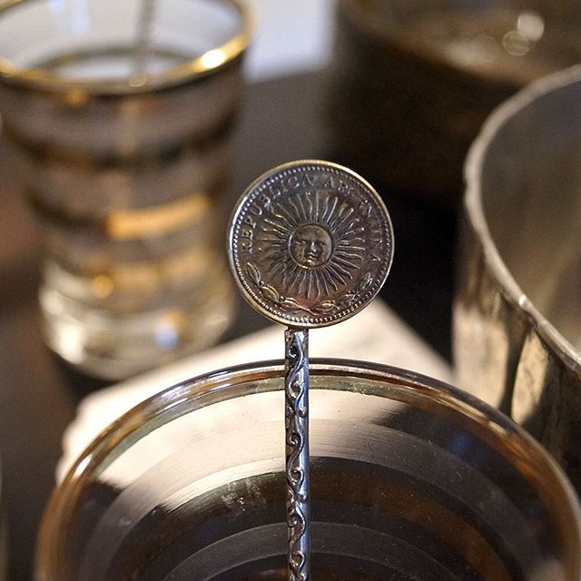 Discovered within a beautiful artisan area of Recoleta in Buenos Aires, these handmade demitasse spoons are crafted from vintage Argentine peso coins making each one unique.  #Handmade #Artisan #UncoveredTreasures #Travel #BuenosAires #Coin #Peso #Unique