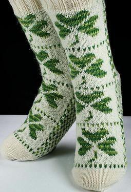 Shamrock Socks - Knitting Patterns by Christina Rowell