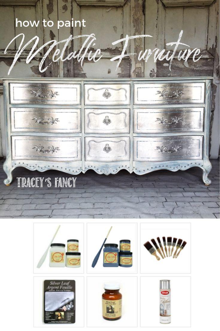 My Glamorous Metallic Silver Dresser Sancuary Upcycling