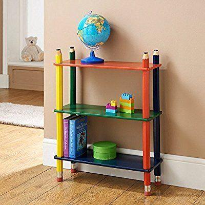 3 Tier Shelve Shelf Kids Pencil Bookcase Furniture CD DVD Book Storage: Amazon.co.uk: Beauty