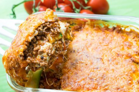 Eine herrliche Low Carb Lasagne frei von Nudeln und demnach Kohlenhydraten. Mit gutem Gewissen…