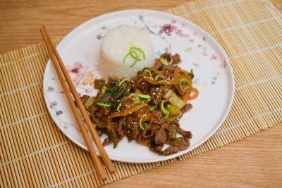 Tina Gustafsson » Japansk wok med biff, purjolök och paprika